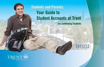 Your Guide to Student Accounts at Trent 2011/12 - Trent University