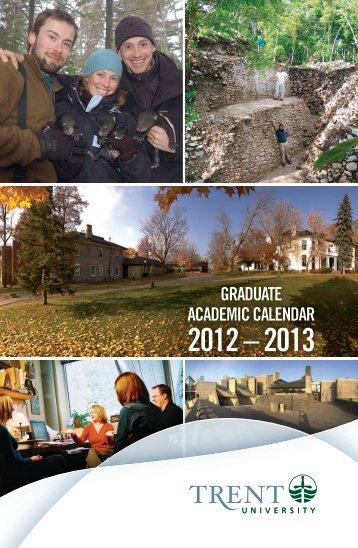 Graduate academic calendar 2012 - 2013 - Trent University