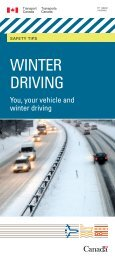 Winter Driving Safety Tips - Transports Canada