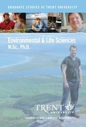 Environmental & Life Sciences.indd - Trent University