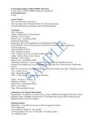 Section Information: CHEM-1000H Fall Term ... - Trent University