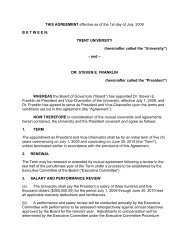 President's Employment Contract - Trent University