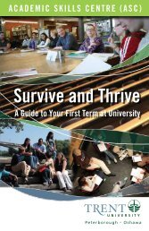 Survive and Thrive - Trent University