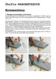 Montageanleitung Wangentreppe Ökofix - TreppenShop24
