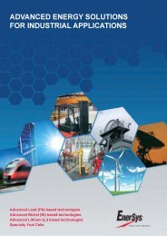 advanced energy solutions for industrial applications - Enersys Asia