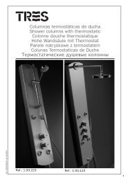 Columnas termostáticas de ducha Shower columns with ... - Tres
