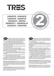 GARANTÍA • GARANTIE GARANTIE • GARANTIE GARANZIA ... - Tres