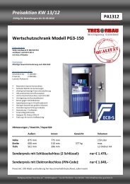Preisaktion KW 13/12 - Wolfgang Gümbel Tresorbau