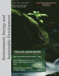 Environment, Energy and Sustainable Development - Tressler LLP