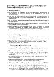 Ergänzende Bedingungen NDAV 20070106