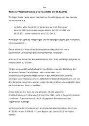 -1- Rede zur Verabschiedung des Haushalts am 09.02.2012 Wir ...