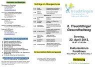 6. Treuchtlinger Gesundheitstag - Stadt Treuchtlingen