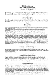 Benutzungssatzung (pdf) - Stadt Treuchtlingen