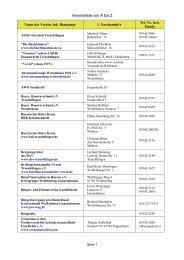 Vereinsliste von A bis Z - Stadt Treuchtlingen