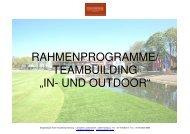 Treudelberger Incentives/Rahmenprogramme - Steigenberger Hotel ...