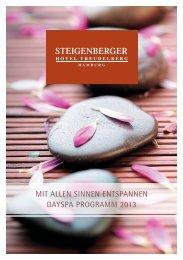 DaySpa Programm 2013 - Steigenberger Hotel Treudelberg Hamburg