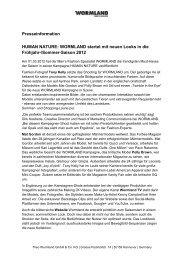 Presseinformation HUMAN NATURE: WORMLAND startet mit neuen ...