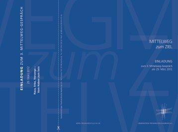 Einladung und Programm 3. Mittelweg-Gespräch (PDF)