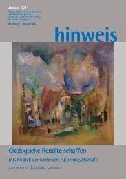 Ausgabe 01/2014 - Gemeinnützige Treuhandstelle Hamburg e.V.