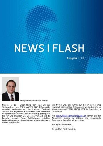 News Flash - Ausgabe 1-13 - Schweizerischer Treuhänder-Verband