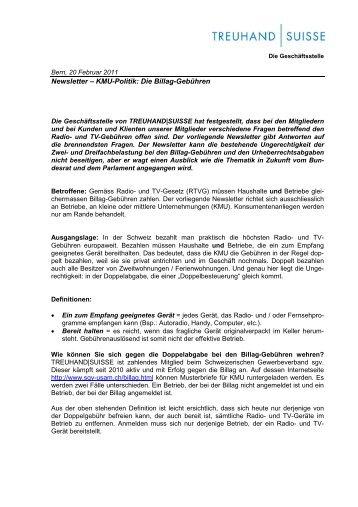 Billag_Gebühren [PDF, 35.0 KB] - Schweizerischer Treuhänder ...