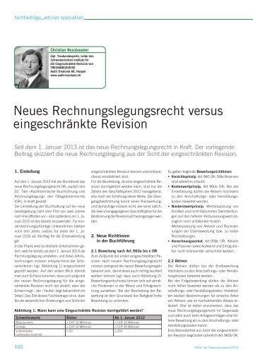 Neues Rechnungslegungsrecht versus eingeschränkte Revision
