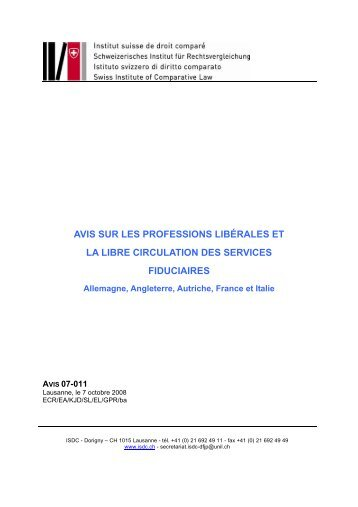 allemagne - Schweizerischer Treuhänder-Verband