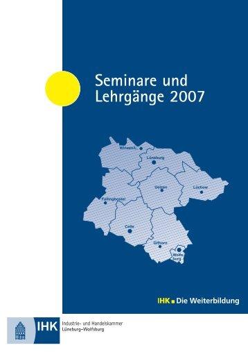 Seminare und Lehrgänge 2007