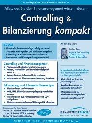 Seminar: Controlling & Bilanzierung kompakt - Management Circle AG