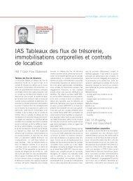 IAS Tableaux des flux de trésorerie, immobilisations ... - Trex