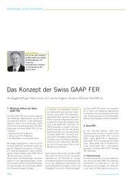 Conrad Meyer: Das Konzept der Swiss GAAP FER - Trex