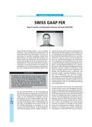 Chr. Feller: SWISS GAAP FER: Basel II und die sich bietenden ... - Trex