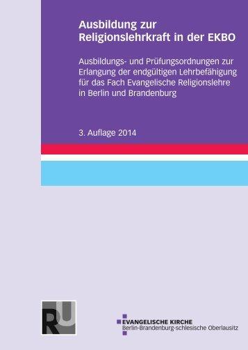 Ausbildung zur Religionslehrkraft in der EKBO