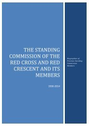 THE STANDING COMMISSION OF THE RED CROSS AND RED CRESCENT AND ITS MEMBERS
