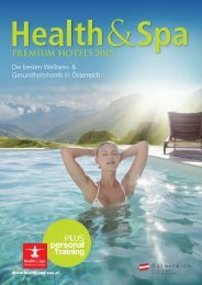 Health and Spa - Premium Hotels 2015