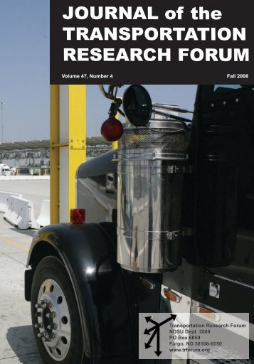 Download the Journal - Transportation Research Forum