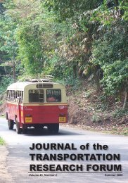 Journal of the Transportation Research Forum (Vol. 45, No. 2 ...