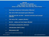 Agenda Meeting N.E.W.-project Time: January 25, 2005 (09:30 ...