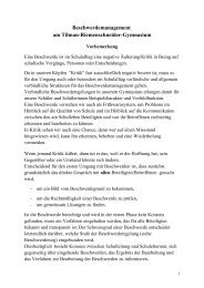 Konzept zum Umgang mit Beschwerden - Tilman-Riemenschneider ...