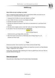 Methoden- und Kompetenzordner Heftführung Tipps