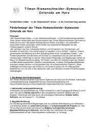 Förderkonzept - Tilman-Riemenschneider-Gymnasium Osterode am ...