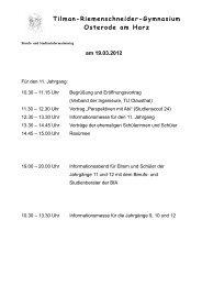 am 19.03.2012 - Tilman-Riemenschneider-Gymnasium Osterode ...