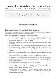 Nachschreibekonzept - Tilman-Riemenschneider-Gymnasium ...