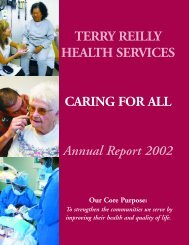 Annual Report 2002 - Terry Reilly Health Services