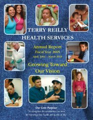 Annual Report 2004 - Terry Reilly Health Services