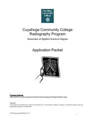 Application Packet - Cuyahoga Community College