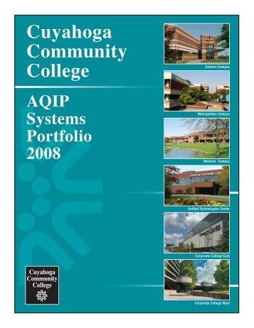 Tri-C AQIP Systems Portfolio - Cuyahoga Community College
