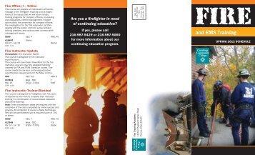 Fire Academy/Advanced Fire & EMS Classes