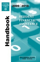 0910 Handbook.pdf - Cuyahoga Community College