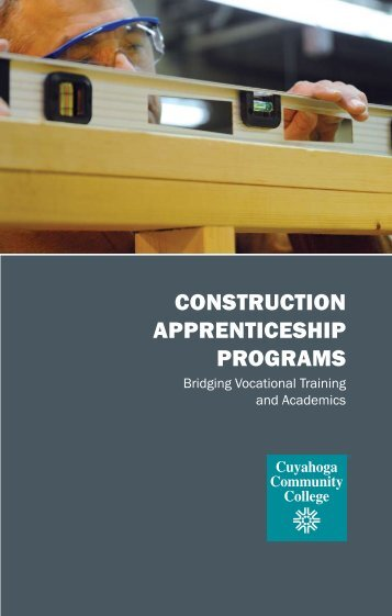 Apprenticeship Brocure Pages - Cuyahoga Community College